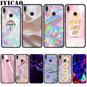 IYICAO Pastel Metallic Tumblr Cute Pretty Cell Soft Case for Huawei P20 Pro P10 P8 P9 P30 Lite Mini 2017 P Smart 2019 Cover(China)
