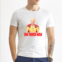 2017 One Punch Man Mens T Shirts Digital Printing 100 Combed Cotton Casual Anime Tees Homme