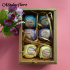 6 pcs/Set Gift set bomb for a bath spa salt Bomb home spa organic Natural Handmade Bath Spa relief