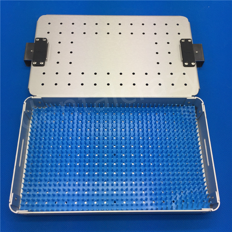 Aluminium alloy sterilization tray case surgical instrument 1Set new aluminium alloy sterilization tray sterilization case surgical instruments
