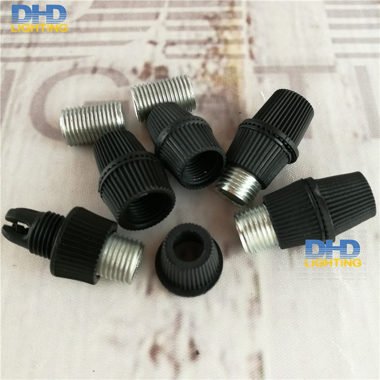 Free shipping 50/100pcs plastic short item grips for wire lock black plastic lighting cable grips with M10 15mm threaded tubes dhl ems contec vga tpvga pc t e l s sg no 9984a isa pull from ipc pt m100 pc k c3 d9