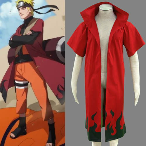 Naruto Uzumaki cosplay costume Red Cloak
