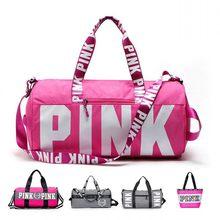 f60d5f0b6809 Fashion Ladies luggage Travel Bag Pink Sequins Weekend Shoulder Bag  Portable Large capacity waterproof Women Handbag duffel Bag