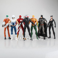 Avengers:Infinity War SUPER HERO Universe Batman The Joker Catwoman Wolverine Iron Man Black Manta 7 Pcs/set Action Figure G237