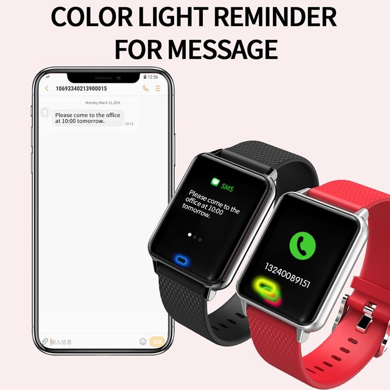 Image 4 - Умные спортивные часы M21 сердечного ритма браслет крови Давление фитнес контроль сна трекер Водонепроницаемый Android IOS Цвет экранная полоса-in Смарт-браслеты from Бытовая электроника