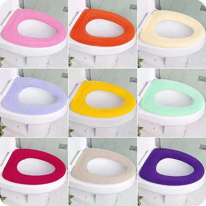 ชุดอุปกรณ์ห้องน้ำห้องน้ำฝาครอบที่นั่ง WARM Soft Toilet ฝาครอบที่นั่งห้องน้ำ Closestool Protector
