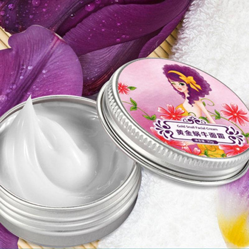 Gold Snail Facial Cream Moisturizing Whitening Acne Indian Wrinkle Cream 30g