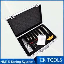 Высокая точность NBJ16 Расточная головка Системы HSK63A R8 MTA 3 MTA4 MTA5 BT30 BT40 BT50 SK40 SK M16 держатель 8 шт. 16 мм сверлящей оправкой ранг