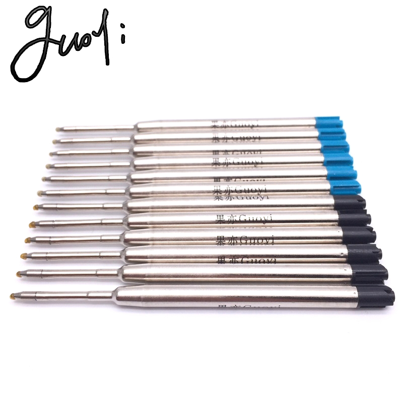 Guoyi K088 novel ballpoint pen refill 10pc/lot  for school office stationery gift pen hotel business writing length 700 m pen