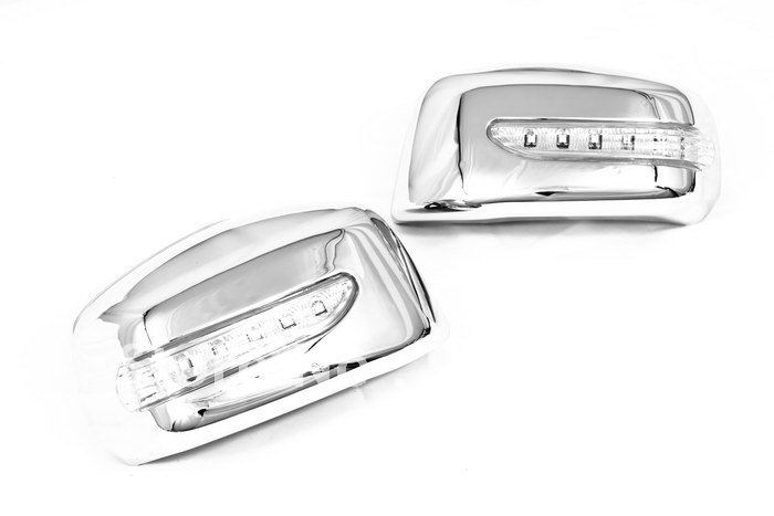 цена на High Quality Chrome Mirror Cover With LED Side Blinker for Nissan Tiida / Latio free shipping