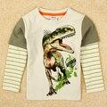 T-shirt meninos crianças bebê roupas de verão de manga longa crianças camisolas para meninos de verão de algodão de manga comprida