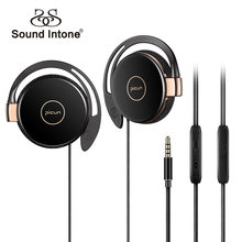 Sound Intone Sport Running Earphones With Mic Volume Control Anti-drop Off HiFi Headphone For Mobile Phone Windows PC MP3 Player(China)