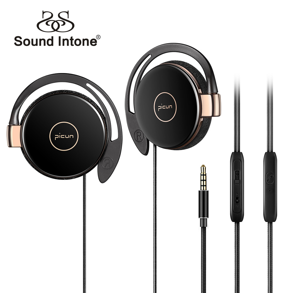 Sound Intone Sport Running Earphones With Mic Volume Control Anti-drop Off HiFi Headphone For Mobile Phone Windows PC MP3 Player
