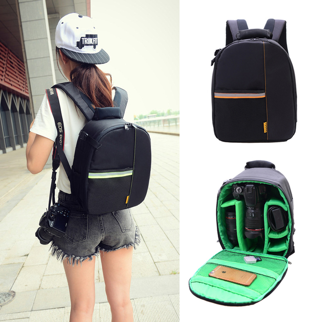 Roadfisher Casual Light Weight Men Women DSLR Digital SLR Camera Backpack  Travel Rucksack Bag Insert Case