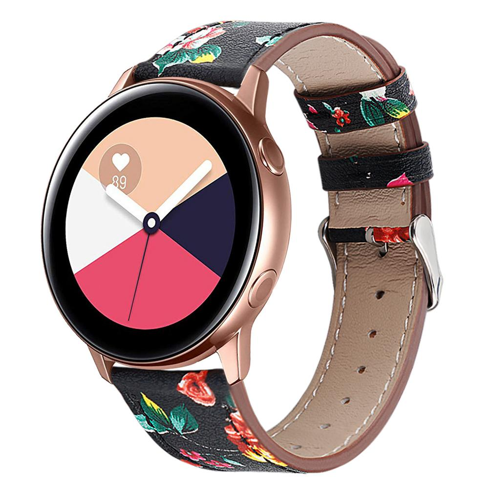 Image 5 - High Quality Replacement Classic Leather Watch Band Wrist Strap Comfortable For Samsung Galaxy Watch Active-in Smart Accessories from Consumer Electronics