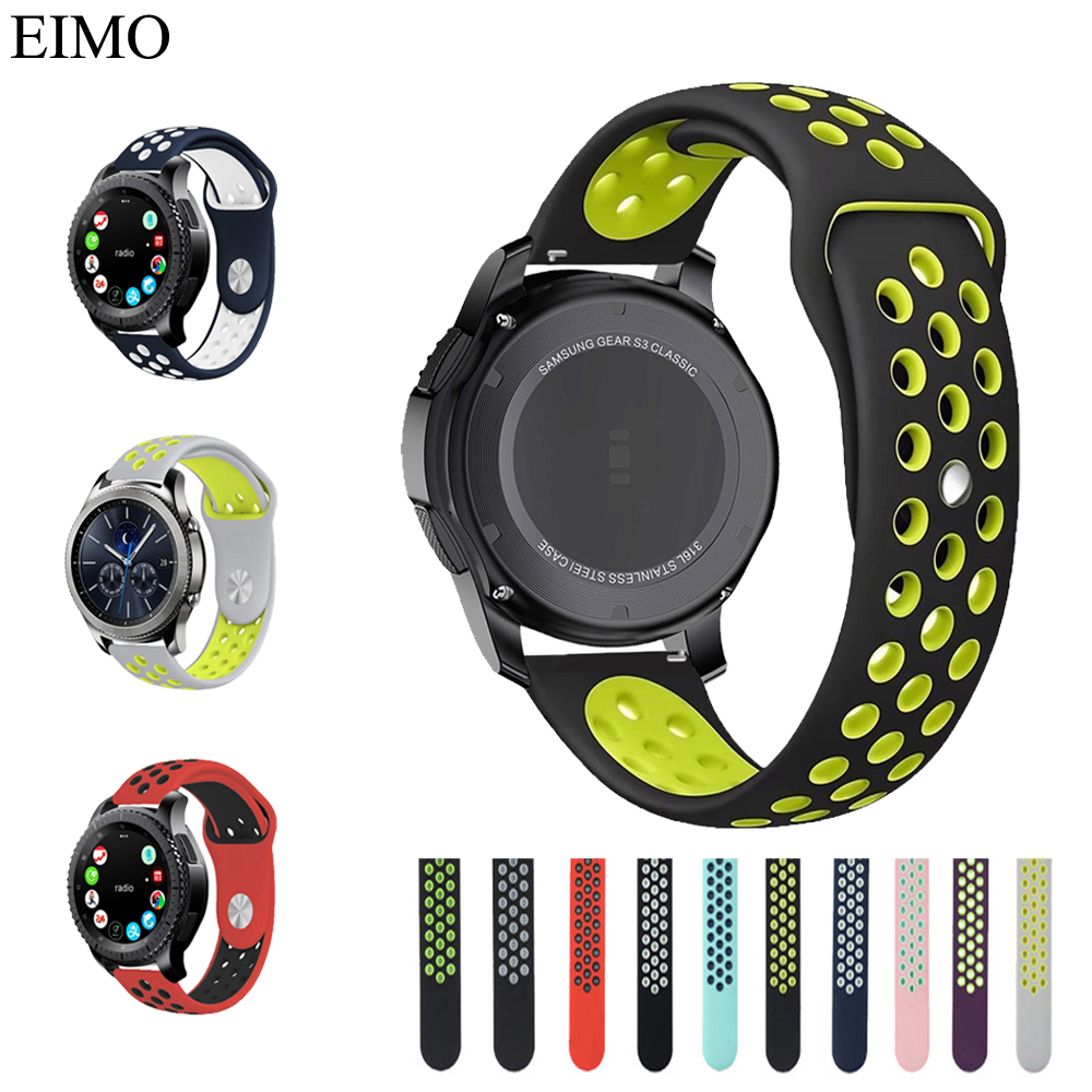 22mm Silicone Watch Band For Samsung Gear S3 frontier Strap Rubber Wrist Belt for Xiaomi Huami Amazfit Sport Strap Accessices 18 colors rubber wrist strap for samsung gear s3 frontier silicone watch band for samsung gear s3 classic bracelet band 22mm