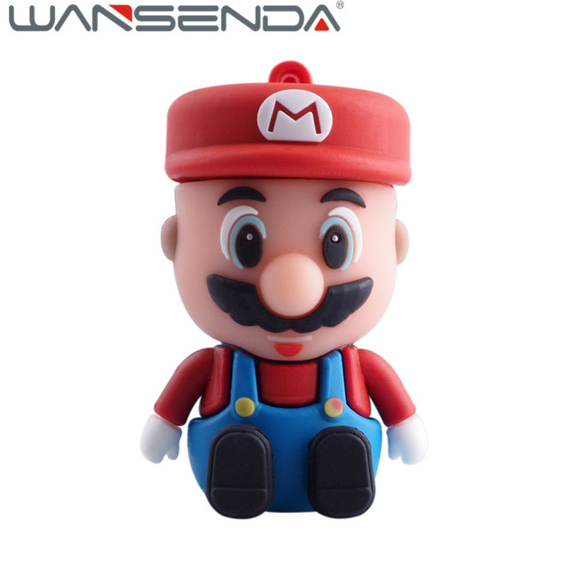 Super Mario USB Flash Drive pen drive 4 gb 8 gb 16 gb 32 gb 64 gb de silicona unidad flash usb 2.0 usb de la historieta pendrive memory stick