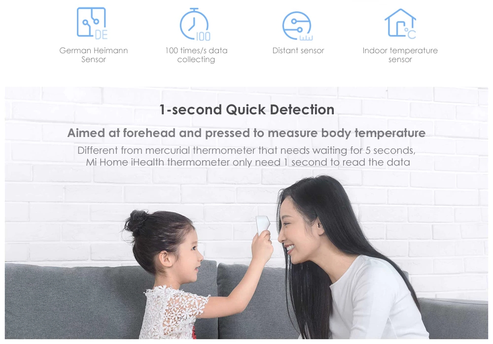 2018 New Arrival Original Xiaomi iHealth Thermometer Non Nontact Measurement Xiaomi Thermometer with LED Screen Clear Reading