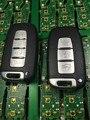 O Envio gratuito de 3 Botões/4 Botões Carro Remoto Chave Inteligente 433 Mhz com o Chip ID46 Para Solaris Hyundai Sonata IX35 K5 Sportage Sorento