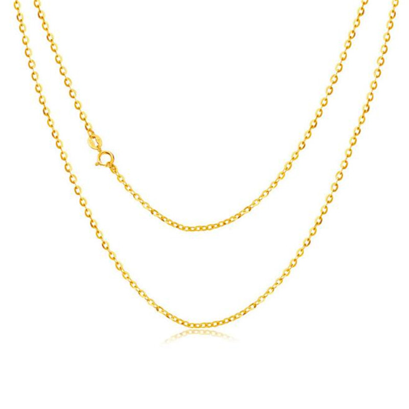 2018 High Quality 18K Gold O Chain Necklace For Women Functional Simple Classic Fashion Choker Necklace Jewelry Gifts2018 High Quality 18K Gold O Chain Necklace For Women Functional Simple Classic Fashion Choker Necklace Jewelry Gifts