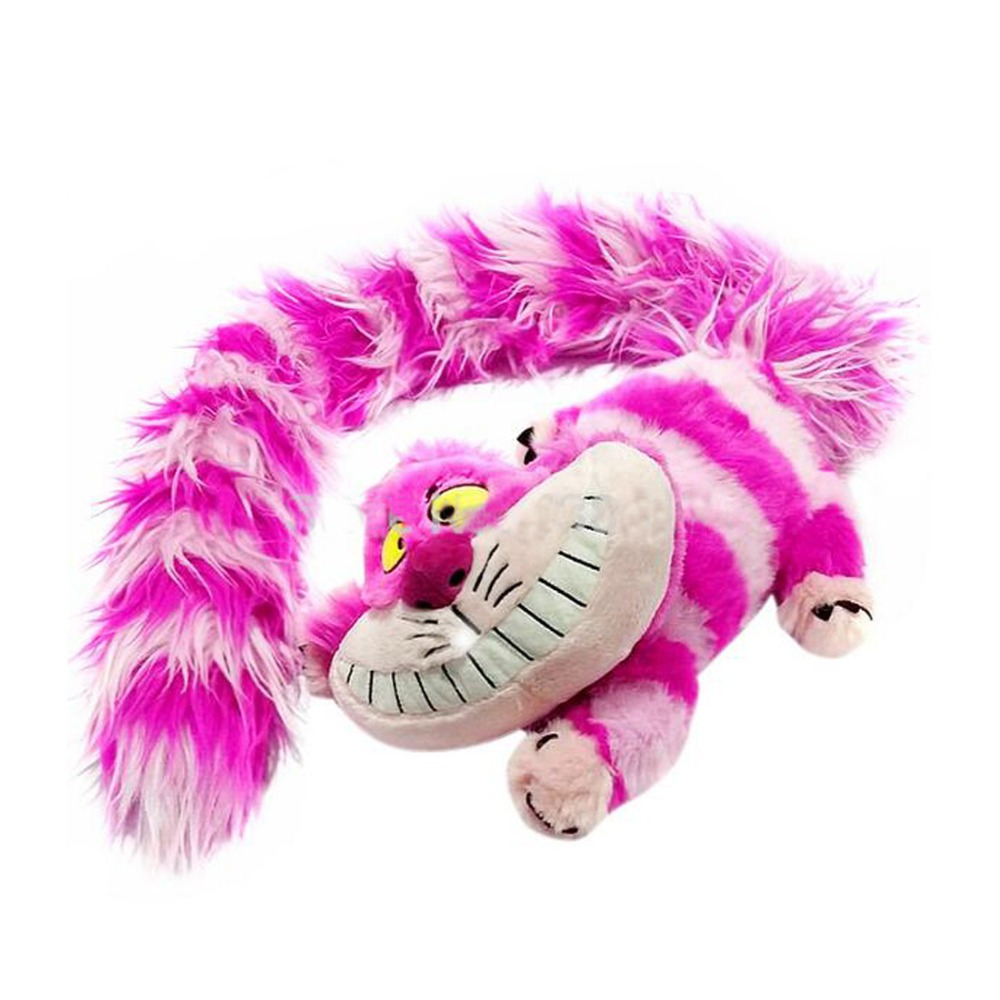New Alice's Adventures in Wonderland Cheshire Cat plush doll 30cm Tail 110cm Cat Stuffed Animals Soft Toys For Kids Gift pelucia fancytrader new style giant plush stuffed kids toys lovely rubber duck 39 100cm yellow rubber duck free shipping ft90122