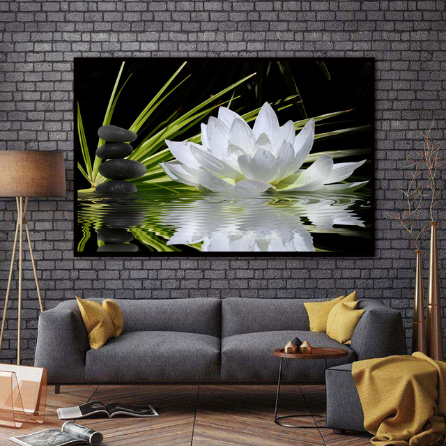 Xx3304 White Lotus Flowers Definition Pictures Canvas Home