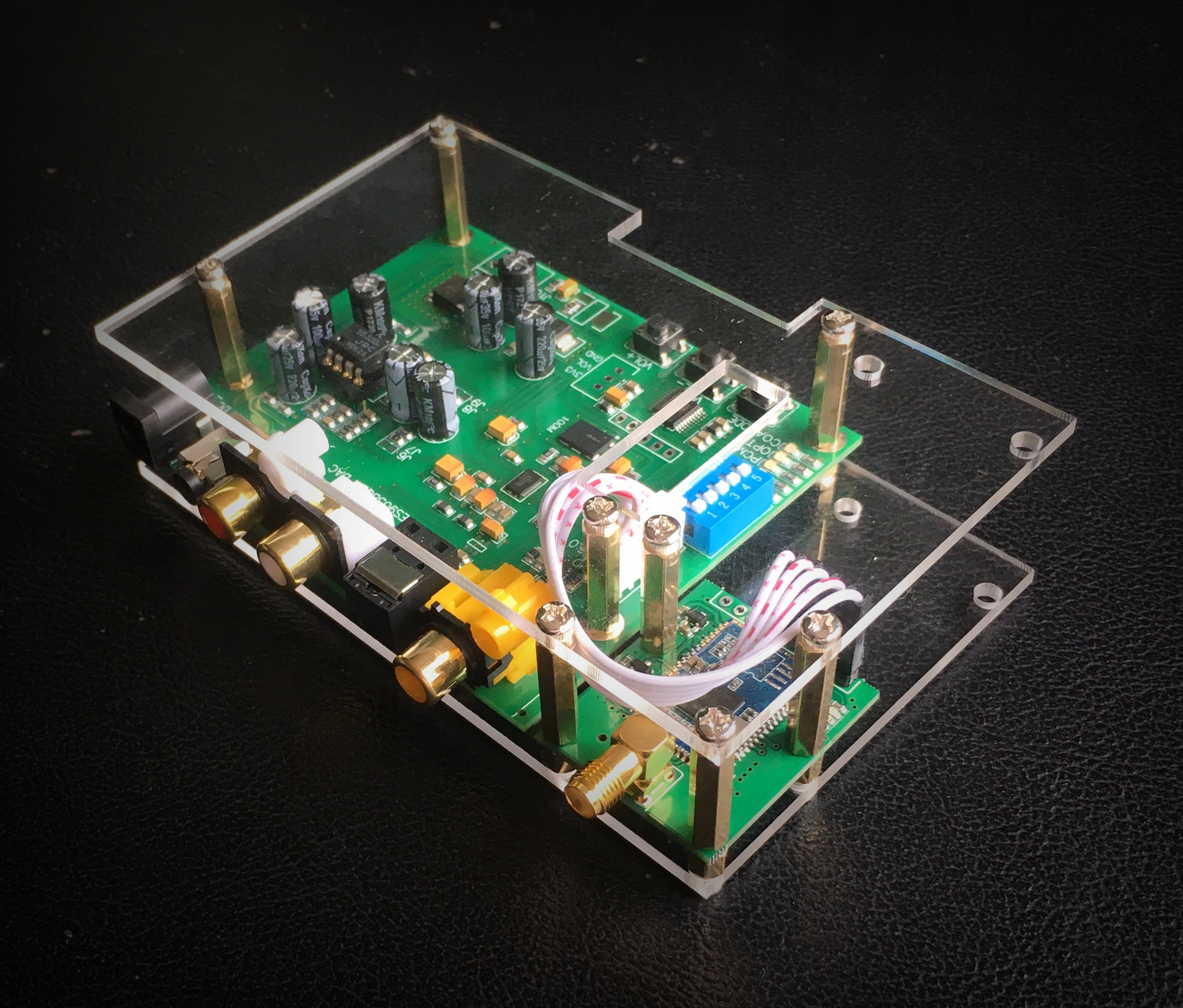 ES9038Q2M DAC I2S SPIDF Decoder Board CSR8675 Aptx-hd Bluetooth 5 Module