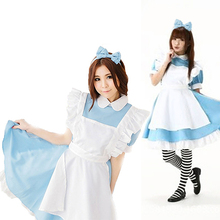Cosplay Women Girl Maid Dress + Apron + Headband Halloween Party Outfit Costume