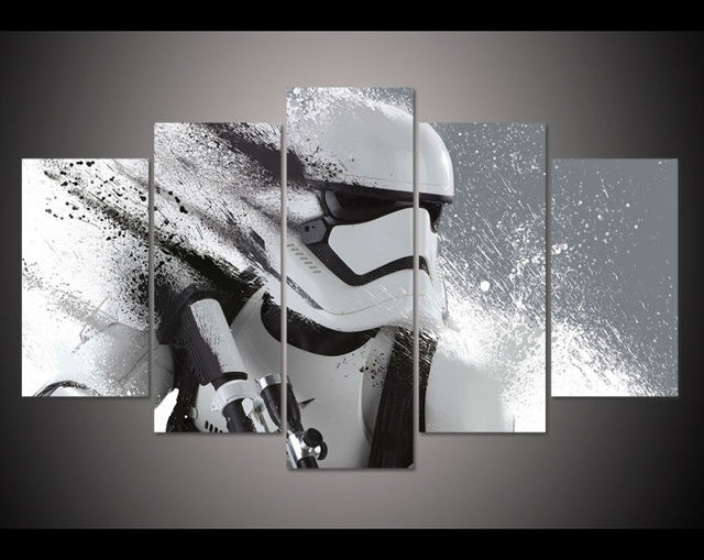Print Stormtrooper Star Wars movie poster painting modern home decor wall art picture print oil Painting on canvas art no frame