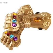Film Thanos rękawiczki Halloween Thanos kostiumy rekwizyty do cosplay karnawał Purim parada Masquerade bal maskowy party dress tanie tanio FCFS XZM Film i TELEWIZJA Unisex Dzieci Glove TS026 plastic