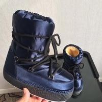 Бренд звезды для подиума женская обувь ботинки до середины икры Зимние полусапожки теплые зимние сапоги на шнуровке Женские туфли лодочки