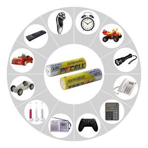 Image 5 - 8 Pçs/lote 2A Baterias PKCELL AA NI MH 2000mAh 1.2V Bateria Recarregável AA Bateria Baterias AA NIMH pilhas para lanterna