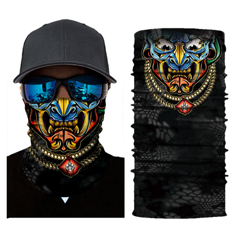 New Halloween Scarf Mask Festival Motorcycle Face Shield Sun Mask Balaclava Party Masks Festive Supplies Masquerade Mask