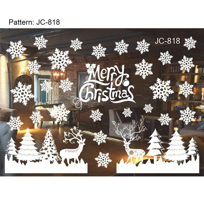 Xmas Christmas Decoration Snow Flakes Window Stickers ...