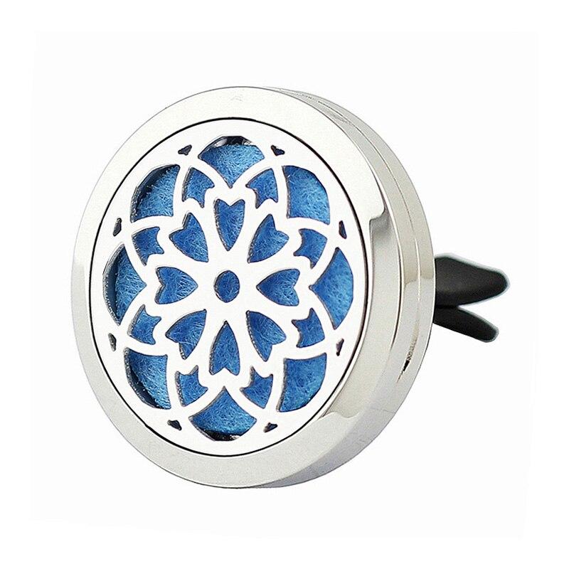 Hot výprodej 30 mm stříbrný magnetický 316L z nerezové oceli éterický olej difuzor ventilační spona do auta parfémované kapesní šperky
