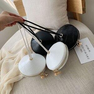 Image 2 - Fashion Circular PU Leather Handbag Small Round bag 2019 Circle Bags Small Purses and Handbags Brand Phone Bag Party Clutch