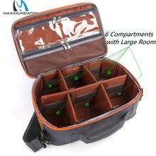 Maximumcatch Multi-Purpose 6 Compartments Waterproof Fly Fishing Bag Adjustable Sling Bag Fishing Reel Pack