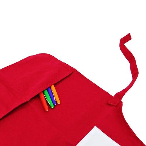 Blanc Imprimé Diy lot Logo Cuisine Tabliers Personnalisé Cap De Rouge Tablier Polyester Dessinée Bande Pcs Épais Avec Enfants 10 qPt1v1