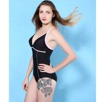 2017 Sexy Bodysuit Driehoek Bh Soli Bikini Set Roze Cross Strappy Hoge cut Diepe V-hals Badmode Vrouwen zwemmen dragen