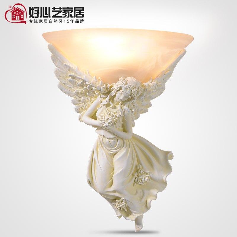 Любезно Искусство Европейский Креативный модный дом спальня настенный светильник прикроватный светильник Романтический женский Ангел Са