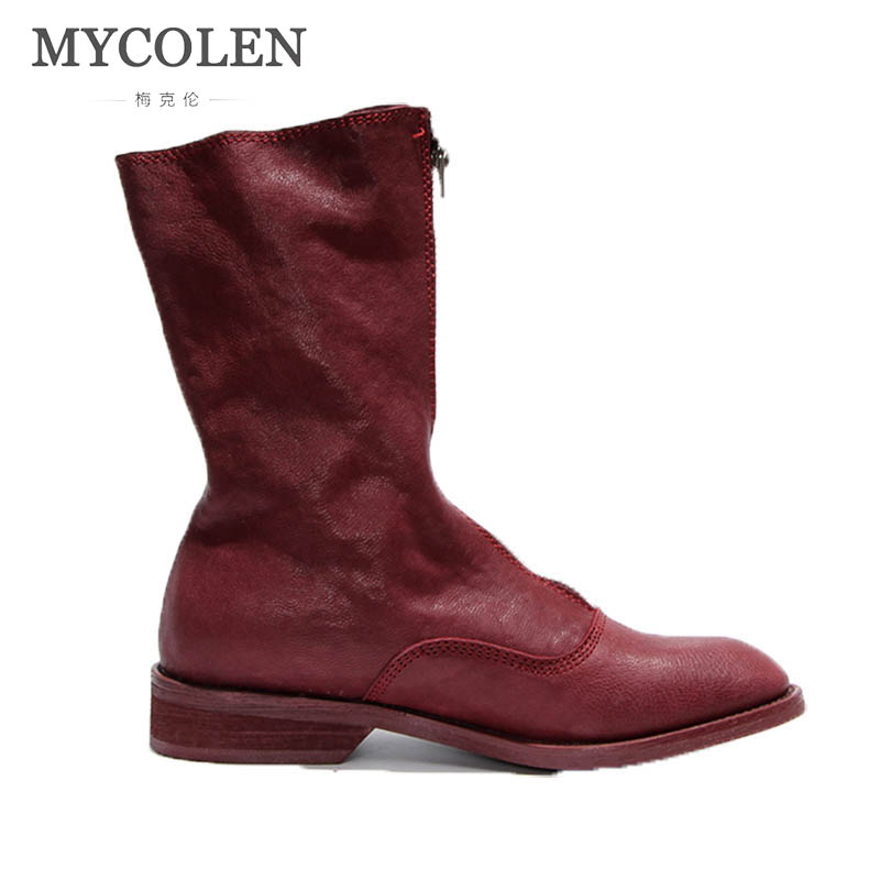MYCOLEN 2018 Autumn Chelsea Boots Women Ankle Boots Pigskin Martin Boots Luxury Fashion Vintage Fashion Boots Botas Mujer колпак diffusor k60 1