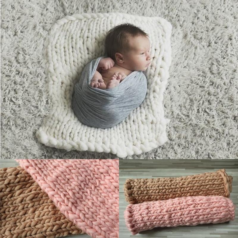 60 * 50 CM Pasgeboren wol fotografie rekwisieten mand foto rekwisieten Pasgeboren fotografia Zuigeling fotografie outfit Baby spullen voor pasgeborenen