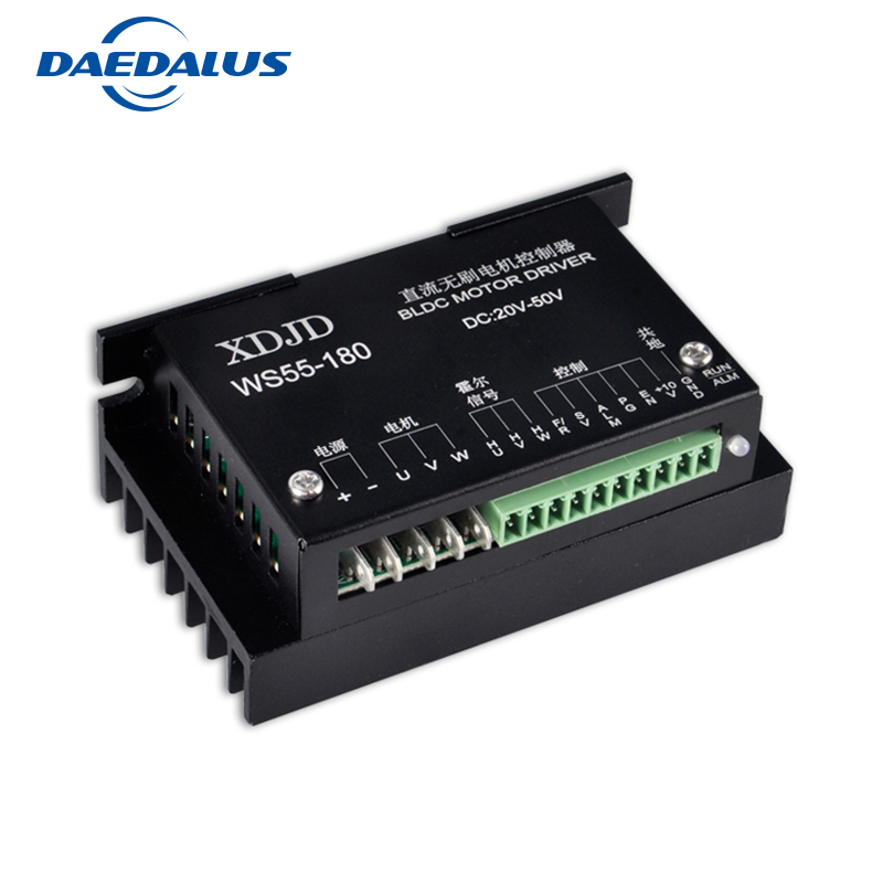 BL Motor driver WS55-180 DC 20-50V Stepper Motor Driver Brushless DC Motor Driver For 400W Machine Tool Spindle bldc stepper motor driver controller servo motor driver dc 24 50v brushless dc motor driver for 600w router spindle milling tool