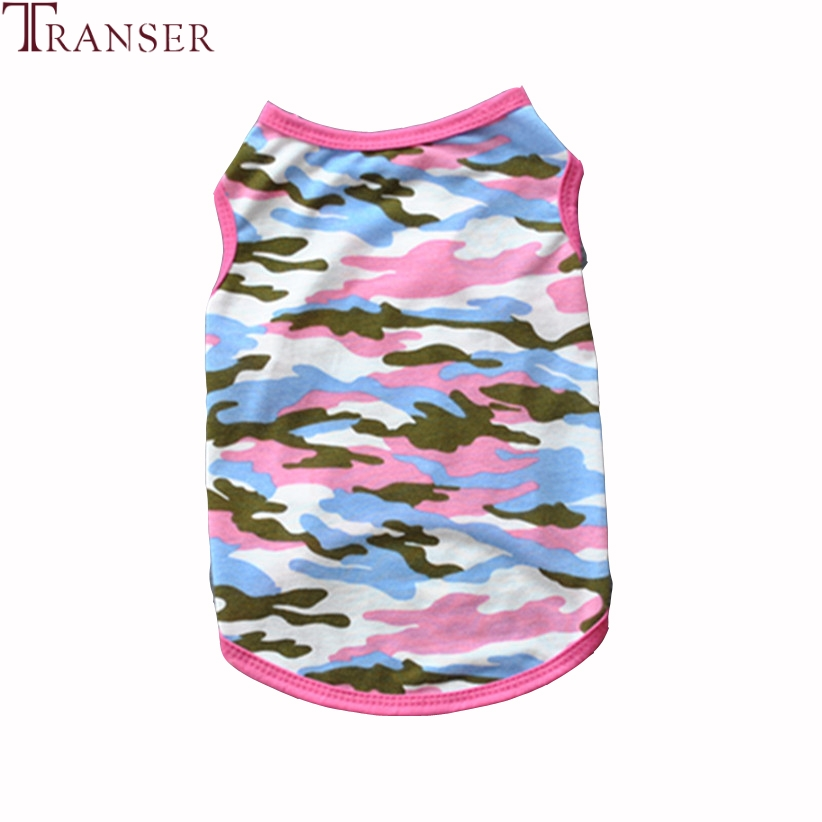 Transer Pet Dog Clothes For Small Dogs Camouflage Dog Vest Shirt Teddy Puppy Pet Summer Clothing 80118
