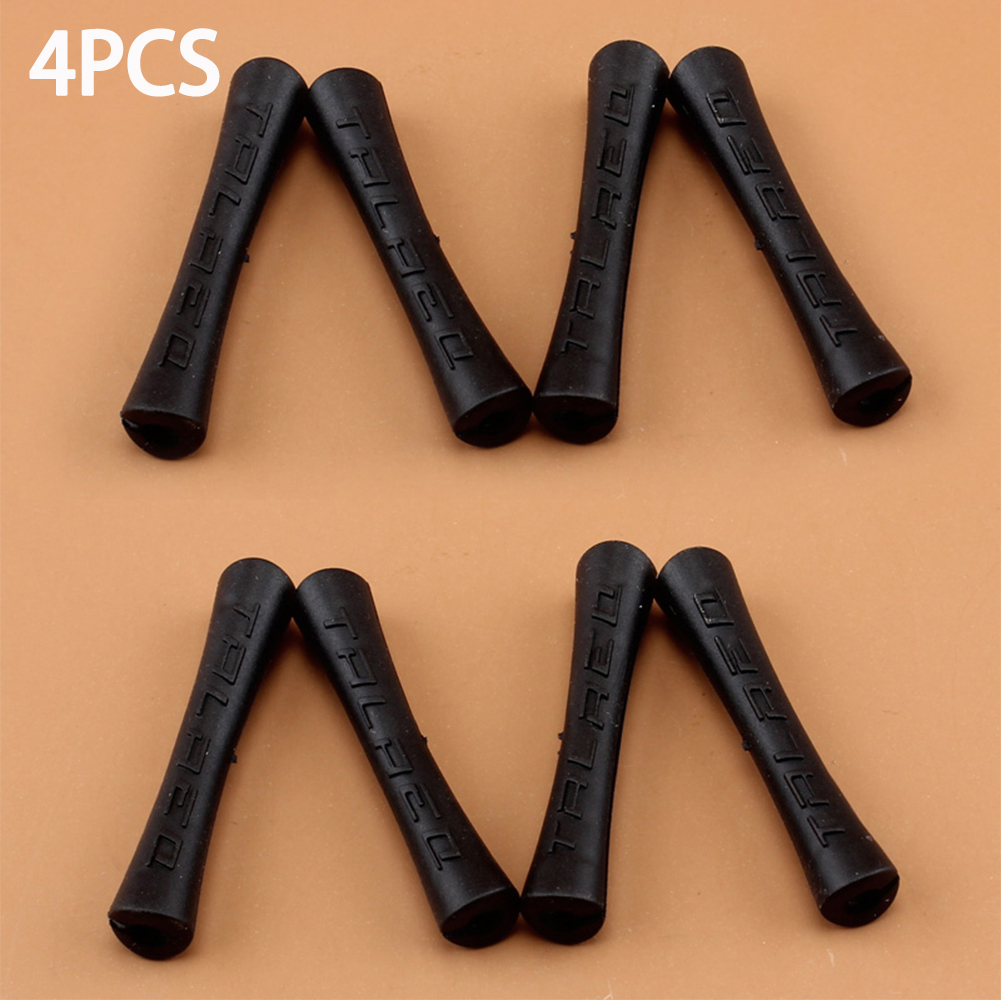 4pcs/lot Bike Brake Wire Protective Sleeve Rubber  Shift Brake Line Cover Bicycle Wire End Cap Cable Protector Cover