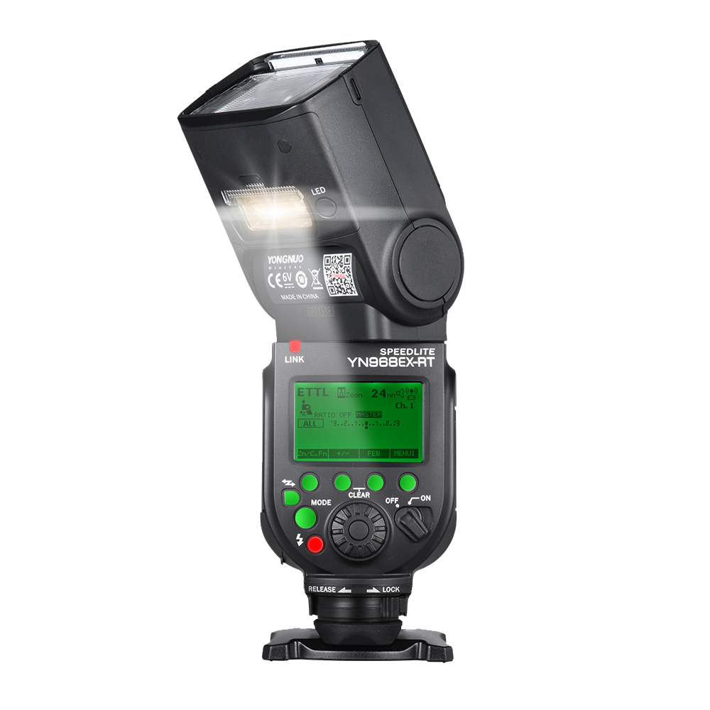 YONGNUO YN968EX-RT TTL Wireless Flash Speedlite with LED Light Compatible with YN-E3-RT\YN600EX-RT for Canon 600EX-RT\ST-E3-RT вспышка для фотокамеры 2xyongnuo yn600ex rt yn e3 rt speedlite canon rt st e3 rt 600ex rt 2xyn600ex rt yn e3 rt