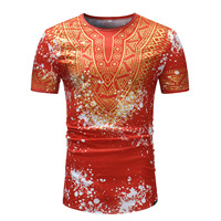 2019 new summer fashion style african men t shirt