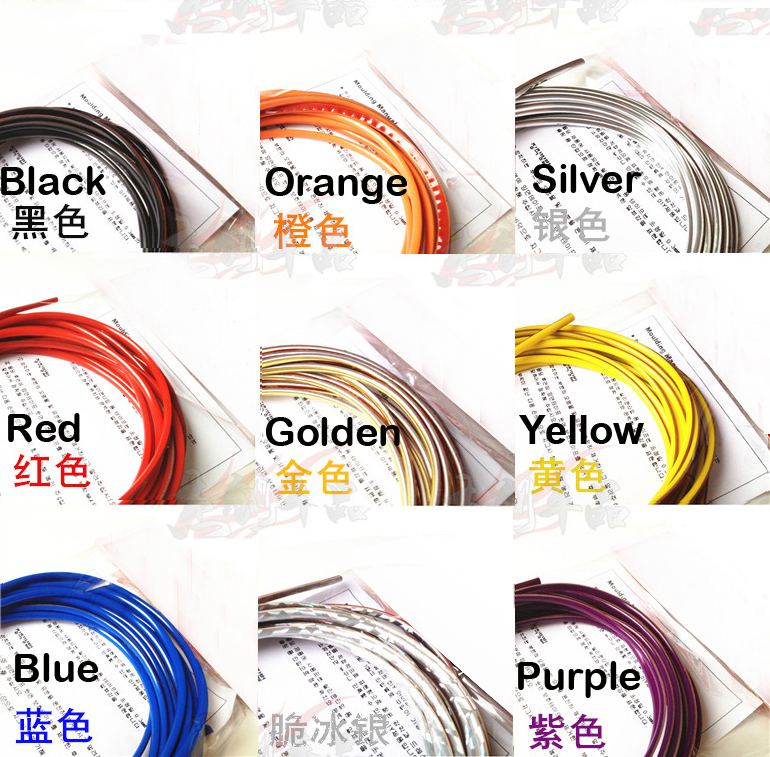 6 meters cute car decoration thread sticker indoor auto for Auto decoration parts