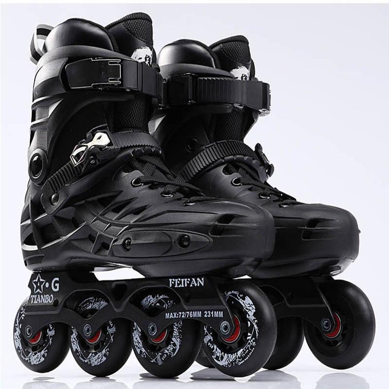 Tianbo Inline Skates Professional Slalom Roller Skating Shoes For Adult Sliding Free Skating Good Quality As SEBA Patine IA16 16 pcs 85a 92a quality pu inline roller skates wheels 72 76 80mm high elasticity freestyle roller blade rodas fsk sliding ruedas