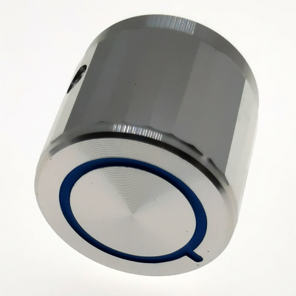 Aluminum Rotary  Potentiometer Knob Audio Knob  Guitar Knob Switch Knob 20x17mm Silver